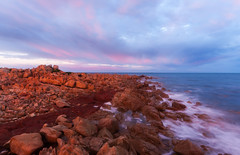 Point Riley, Wallaroo - South Australia (Trace Connolly Photography) Tags: australia natur natura natural nature naturaleza naturephotography colour color colourful outdoor outdoors outside eos canon sunlight exposure flickr landscape seascape ocean beach sea seaside earth environment environmental environmentalphotography sand water rock rocks sunset sunrise contrast cove red green yellow blue black white scene scenery bay scenic cloud clouds sky weather holiday coast shore wave view colorful