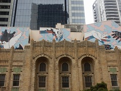 Layers of a City (mikecogh) Tags: sydney cgd layers architecture mural oldandnew contrast urban