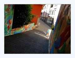 short cut (overthemoon) Tags: switzerland suisse schweiz svizzera romandie vaud lausanne rôtillon alley colourful frame phone utata:project=alley