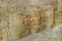 Amphoras in Knossos (jgokoepke) Tags: amphoras knossos crete greece palace texture