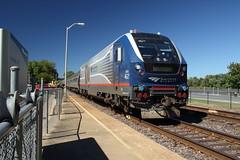 Amtrak 4621 at Hermann MO, USA (Paul Emma) Tags: usa missouri hermann railroad railway dieseltrain train amtrak 4621