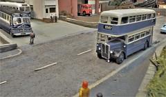 Samuel Ledgards Bus Heading for Otley (ManOfYorkshire) Tags: ledgard ledgards samuleledgard aec bus road otley destination kitbuilt kit oogauge 176 scale diorama southyorkshire transport museum modelroadtransport openday aldwarke rotherham