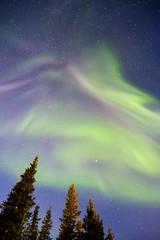 The sky is on fire... (Kristaaaaa) Tags: 16mm aurora auroraborealis borealis canada fortgoodhope fujifilm green longexposure night north northern northernlights northwestterritories nwt sahtu sky skyscape stars wideangle