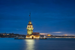 Maiden's Tower & Blue Hour (Luís Henrique Boucault) Tags: ancient architecture blue bosporus city cityscape clouds constantinople culture europe evening exposure famous flag historical history icon istanbul kiz kizkulesi kulesi landmark landscape lighthouse long maiden maidens monument nature night old ottoman purple sea sign silhouette sky sunset symbol tourism touristic tourists tower traditional travel turkey turkish uskudar view water