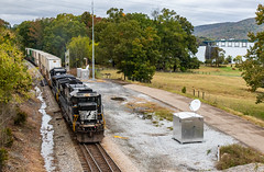 22N at James (Kyle Yunker) Tags: ns norfolk southern c409 general electric ge train intermodal