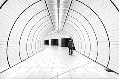 A Whiter Shade of Pale (Andrew G Robertson) Tags: marienplatz munich high key metro underground munchen bavaria train station