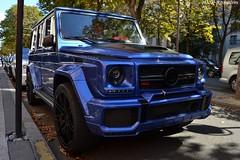 Mercedes Brabus G700 Widestar (Monde-Auto Passion Photos) Tags: voiture vehicule auto automobile mercedes brabus g700 widestar 4x4 suv bleu blue sportive rare rareté ksa arabiesaoudite plaza plazaathénée montaigne france paris
