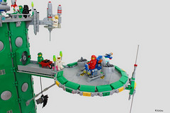 UFO Green Tower (Kloou.) Tags: lego kloou space ufo tower tour moc espace green spacepanic classicspace spaceman legospace neospaceclassic