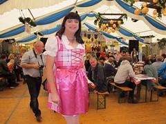 Dirndl dress (Paula Satijn) Tags: sexy hot girl smile fun joy happy dress skirt dirndl oktoberfest party satin silk shiny silky pink girly feminine tgirl tranny sweet cute miniskirt apron joyous gown costume