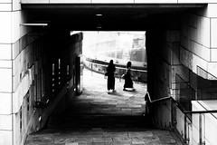 #282 Explorers (tokyobogue) Tags: tokyo japan roppongi nikon nikond7100 d7100 sigma sigma1750mmexdcoshsm blackandwhite blackwhite monochrome people street streetphotography tunnel
