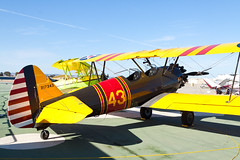 Private Boeing E75 N4672V (jbp274) Tags: sns ksns airport airplanes airshow display warbird vintage restored boeing stearman model75