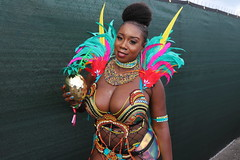 Juicy 2018 (Chuck Diesel) Tags: miamicarnival2018 masquerader costume people parade cleavage titties boobs
