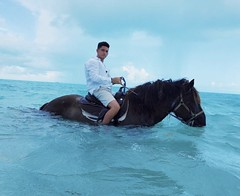 Jordan Zelaya on a Horse in the ocean (jordanmzelaya) Tags: jordan zelaya m wyckoff jordanzelaya jordanmzelaya branding marketing google newyork newjersey unitedstates linkedin