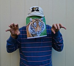 A Futile Attempt to Impersonate a Tiger (ricko) Tags: selfportrait tiger impersonation werehere 286365 2018