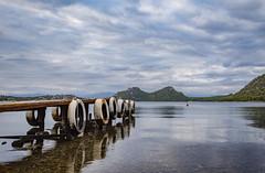 Vouliagmeni Lake Loutraki (panos_adgr) Tags: nikon d7200 landscape wooden dock water sky clouds mountains horizon reflection light greece colours view travel photography tripod