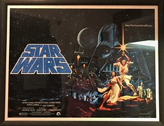 The Classic poster for Star Wars A New Hope seen at #MayTheToysBeWithYou, Torquay Museum 19.08.17 (Trevor Bruford) Tags: star wars toy figure exhibition torquay museum maythetoysbewithyou