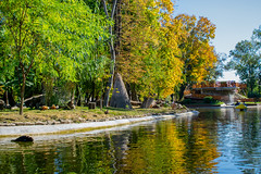 Autumn landscape in the park (OLF Picture) Tags: autumn park water lake landscape river nature tree sky forest trees fall pond reflection green summer blue bridge spring foliage grass outdoors leaves tranquil peaceful