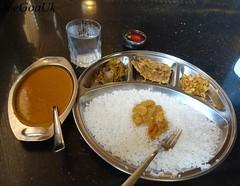Fish Curry Rice thali (Joegoaukfishcurry2) Tags: joegoauk goa fish rice thali
