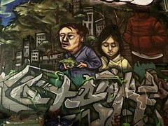 Hidden World (Cindy's Here) Tags: hiddenworld graffitialley alley graffiti toronto ontario canada ansh scavenger8