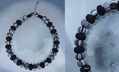 GRAY BLACK WHITE (Fimeli) Tags: polyclay polymerclay beads necklace halskette handmade handwork
