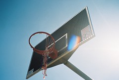 (homesickATLien) Tags: 35mm film art kodak expired mjuiii olympus melbourne victoria australia basketball bball street streetball streetlife light shadow