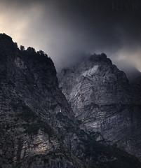 Storm Clouds on the Julian Alps Slovenia (Russell Eck) Tags: storm clouds julian alps slovenia russell eck europe travel nature landscape wilderness mountain mountainscape monochrome jesenice triglav national park highest peak ruska kapelica old russian chapel julijske alpe