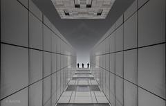 Close to the edge (ARTUS8) Tags: bildkomposition fassade digitallycomposed lookingup flickr menschen linien modernearchitektur nikond800 nikon1635mmf40 personen