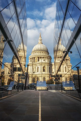 St Paul's Reflections (Rich Walker Photography) Tags: cathedral cathedrals london historic architecture buildings building reflection reflections city cityscape clouds cloud glass sky canon england efs1585mmisusm eos eos80d