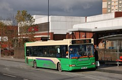 JMB Travel of Newmains SN53 JNO | Route 56 | West Hamilton St, Motherwell (Strathclyder) Tags: jmbtravel jmb travel newmains dennis transbus dart slf plaxton pointer superpointer spd sn53 jno sn53jno west hamilton street motherwell north lanarkshire scotland lothian buses lothianbuses 75