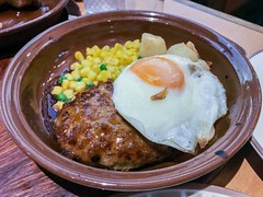 Hamburg steak with onion sauce - Stock image (DigiPub) Tags: 63995274 istocl 284469963 yōshoku beef closeup cooking corn crockery dinner food foodanddrink friedegg gourmet greenpea grilled groundculinary healthyeating heattemperature horizontal japan juicy lunch meal meat nopeople onion photography plate readytoeat savoryfood servingsize steak tradition woodmaterial yokohama