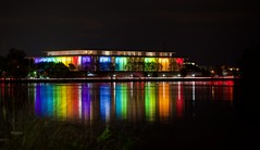 Kennedy Center Honors (elektron9) Tags: dc washingtondc eastcoast usa us america unitedstatesofamerica georgetown waterfront buildings architecture historical kennedycenter johnfkennedy kennedy politics arts entertainment theater theaterbuilding center rainbow colors blue green yellow red purple teal brown orange taillights longexposure nightphotography night nighttime afterdusk snapdc igdc flickrdc lightsoverwater water river potomacriver tastetherainbow nwdc foggybottom clouds cars trees grass railing lighttrails reflection silhouette people tinypeople pillars brightcolors windows floortoceilingwindows