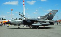 "Berlin SXF 2002 ""Tag der offen Tür"" Tornado 46+18  Bundeswehr (rieblinga) Tags: berlin schönefeld sxf flughafen tag der offenen tür 2002 bundeswehr tornado luftwaffe marine analog revue ac6 af dia 100 4618"