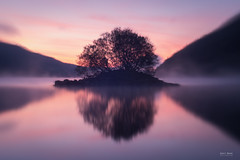 The Mighty Helios 44-2 (Modified) (Geoff Moore UK) Tags: water lake reflections sunrise outdoors mist clam smooth clouds light subtle softness