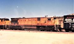 Union Pacific C30-7 locomotive at Cajon Summit in 1992 (Tangled Bank) Tags: union pacific locomotive 1990s 90s roster north american train railway railroad up california cajon pass summit