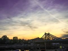 Sunset at Blaues Wunder, Dresden (Muiz Azri) Tags: river skyporn sky bridge sunset