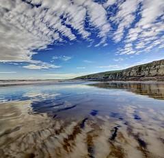Lorelei (pauldunn52) Tags: beach southerndown wet sand cloud reflections glamorgan heritage coast wales