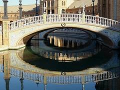 Reflection /bridge (masha mashoveici) Tags: reflection reflectioninwater reflexo reflectare reflexie bridge reflejo reflecting waterreflection sevilla españa spain europe reflets