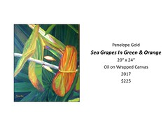 """Sea Grapes in Green & Orange • <a style=""""font-size:0.8em;"""" href=""""https://www.flickr.com/photos/124378531@N04/30426360817/"""" target=""""_blank"""">View on Flickr</a>"""