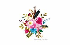 Romantischer Rosen Design-Aufbügler, Print Patch (patchmonkeys) Tags: patch bügelbild blüten applikation aufbügler print bügelbilder blumen rosen transfer verzierung poesie romantische