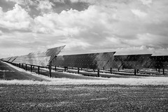 Clouds on Collectors (Neal3K) Tags: georgiagutlergasolarfacility 103mw 1070acres solarpower solarenergy collectors ir infraredcamera kolarivisionmodifiedcamera