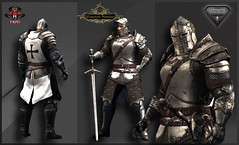 TSC Battle Warden (Silver) (Topa Adamski) Tags: knight warden aesthetic signature secondlife virtualworld zbrush medieval mesh fantasy warrior fullplate templar paladin sl tsc tscreations substancepainter epic larp