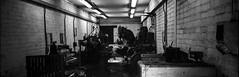 Machine Shop (alasdair.matthews) Tags: film filmisnotdead foma fomapan fomapan100 6x17 5x7 13x18 analogue analog blackandwhite monochrome landscape largeformat bw ilford id11 sheet burkeandjames schneider 150mm f56 aposymmar