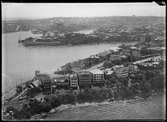 Cremorne Point, North Sydney, 1927-1932, Milton Kent State Library of New South Wales (State Library of New South Wales collection) Tags: milton kent photography aerial sydney early glass plate negatives