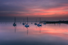 Sunset Colours (Sunset Snapper) Tags: sunsetcolours sunset langstoneharbour haylingisland hampshire southcoast uk reflections sky beautiful serene tranquil boats yachts filter lee nd grad nikon d810 2470mm may 2018 sunsetsnapper