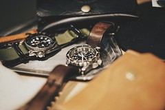 Marathon watch with handmade leather strap (daniel76308) Tags: marathon watch sony a7r2 voigtlander 50mm leather strap