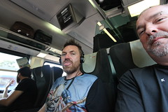 Craig and me on the Budapest to Vienna train (ec1jack) Tags: ec1jack kierankelly september 2018 summer holiday europe eastern budapest hungary canoneos600d railjet obb train railway