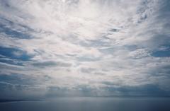Sky and mist over Somerset, from Brean Down (knautia) Tags: breandown brean somerset england uk october 2018 film ishootfilm olympus xa2 olympusxa2 kodak ektar 100iso nxa2roll81 daytrip seaside footpath nationaltrust sea bristolchannel mist misty