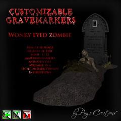 ღ ♡  Gravemarkers - Zombie Dk by Page Creations™ ♡ ღ (Raven Page) Tags: halloween props decor mesh spooky scary fog pumpkins gothic goth