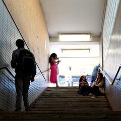 Next train in 30 minutes (maramillo) Tags: maramillo people waiting stairs below up cy unanimous