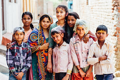 Indian Family Portrait During Holi (AdamCohn) Tags: 018kmtobaldevinuttarpradeshindia abeer adamcohn baldeo baldev india uttarpradesh colors family geo:lat=27407225 geo:lon=77820396 geotagged gulal holi play portrait street streetphotography wwwadamcohncom अबीर गुलाल